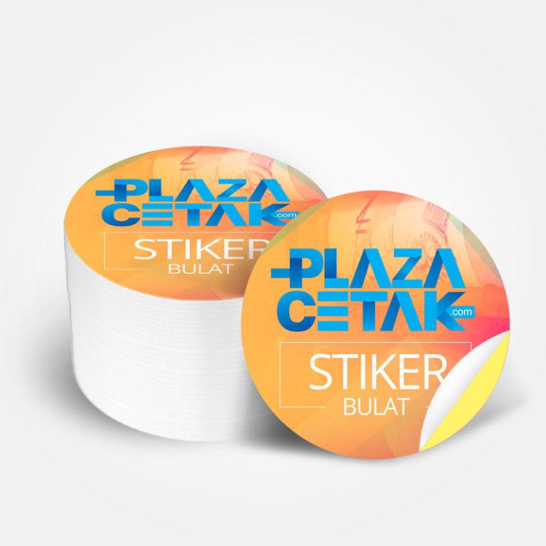 cetak stiker label kromo bulat murah